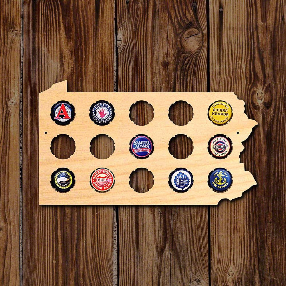 Small Pennsylvania Beer Cap Map