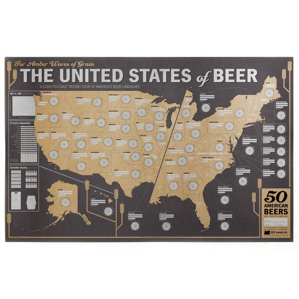 United States of Beer Map