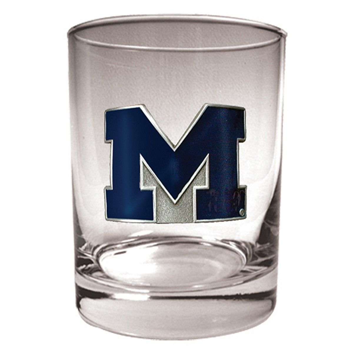 University of Michigan Wolverines Whiskey Glass (Engravable)