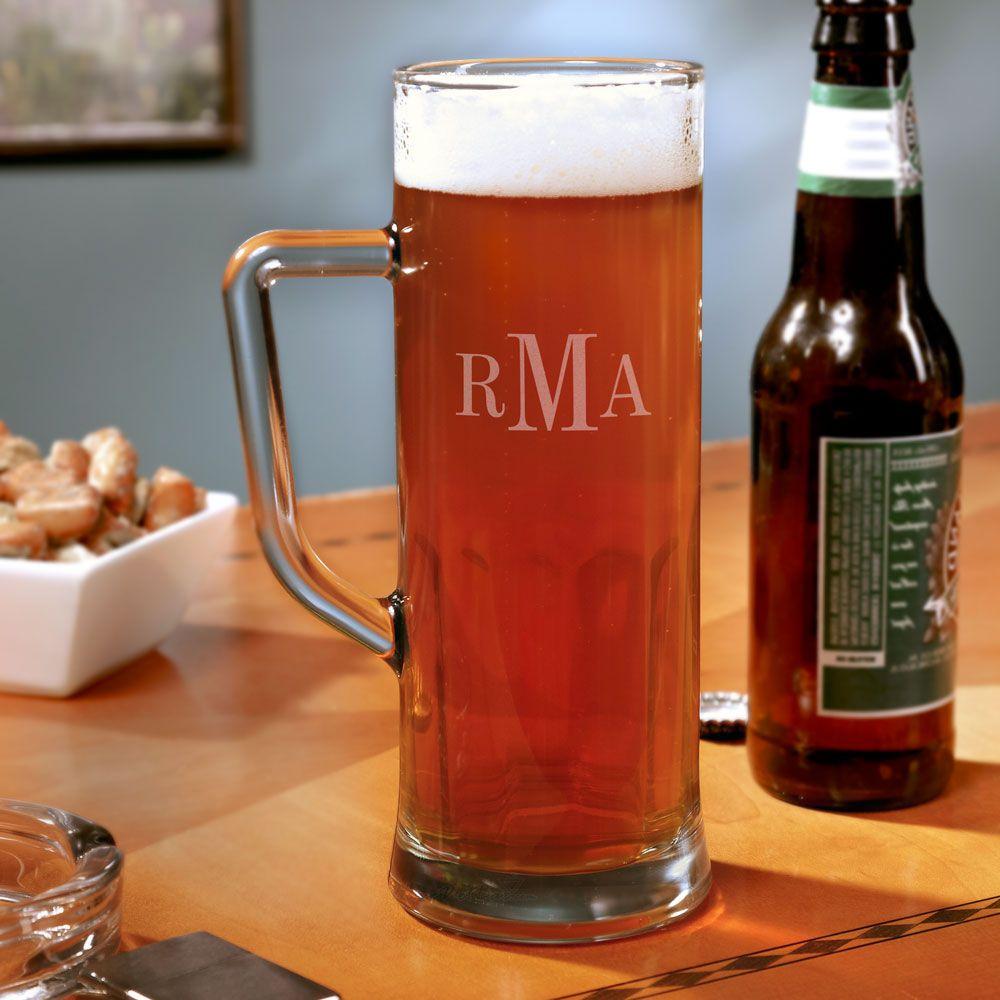 Princeton Monogrammed 22 oz Beer Mug