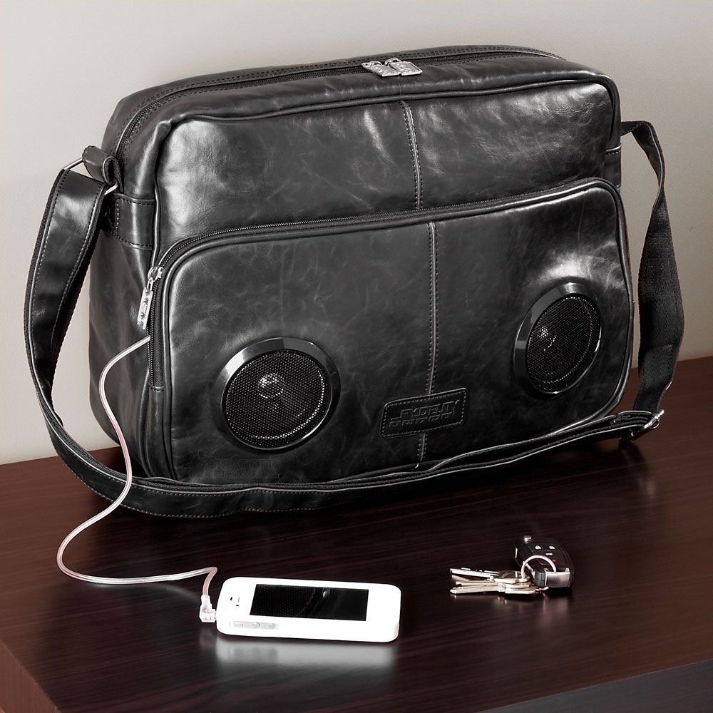 Rock My Way Speaker Messenger Bag (Black)