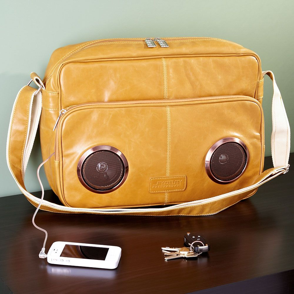 Rock My Way Speaker Messenger Bag (Latte)