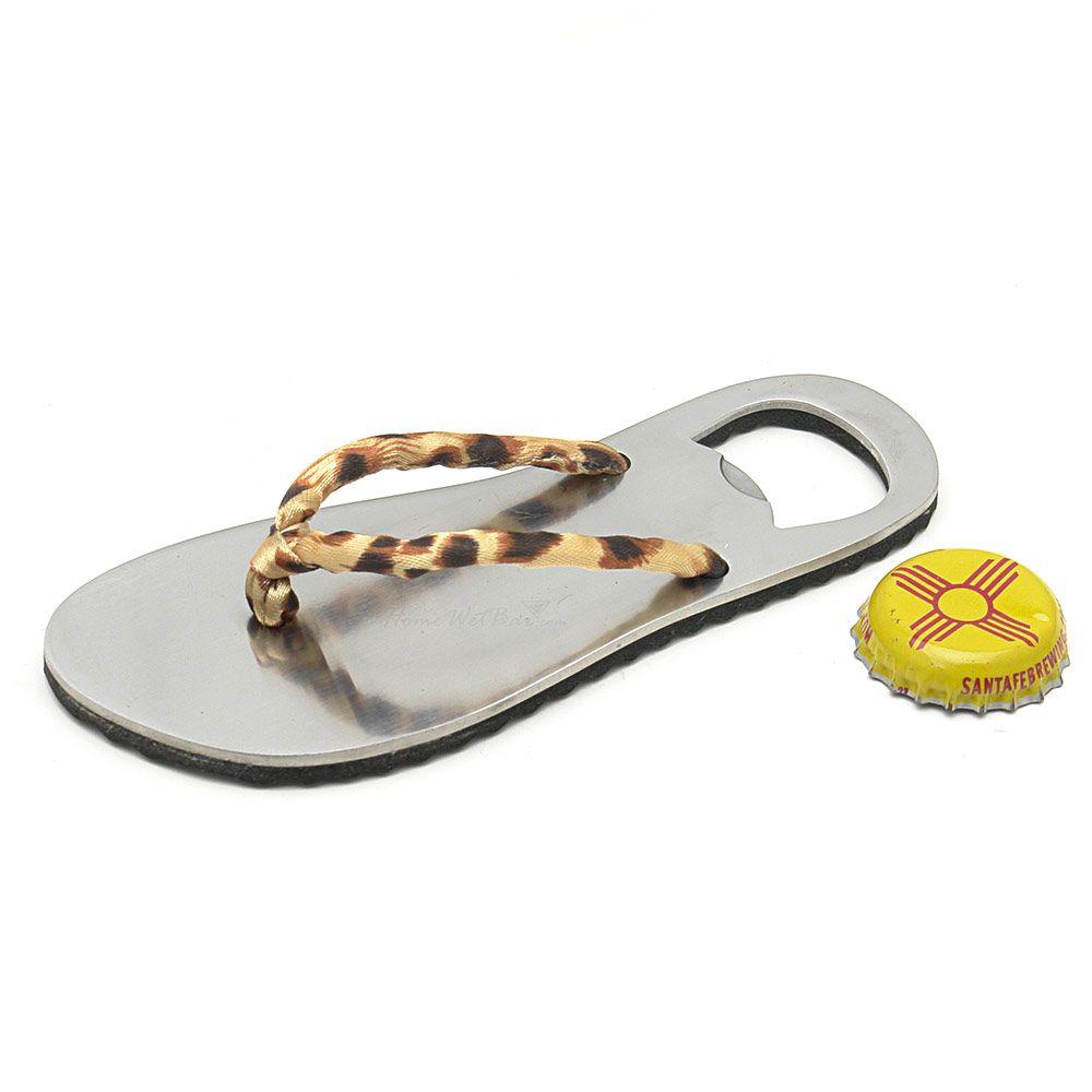 Leopard Flip Flop Bottle Opener