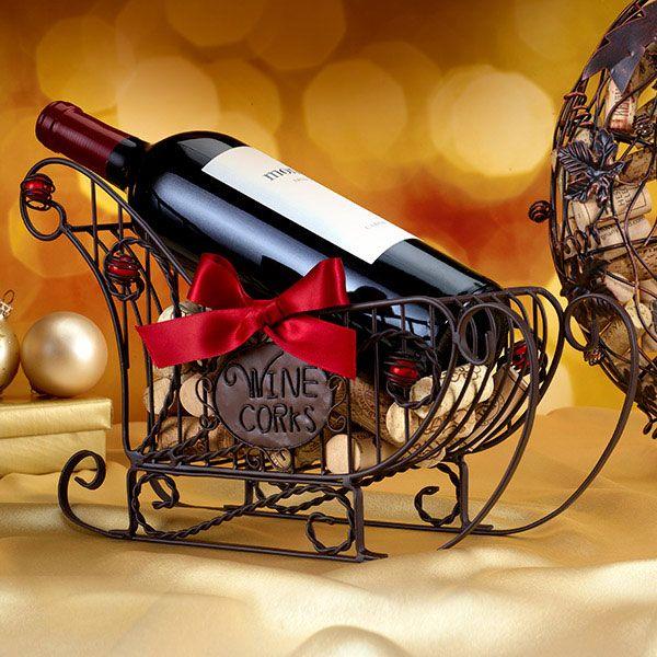 Sleigh Wine Cork Holder