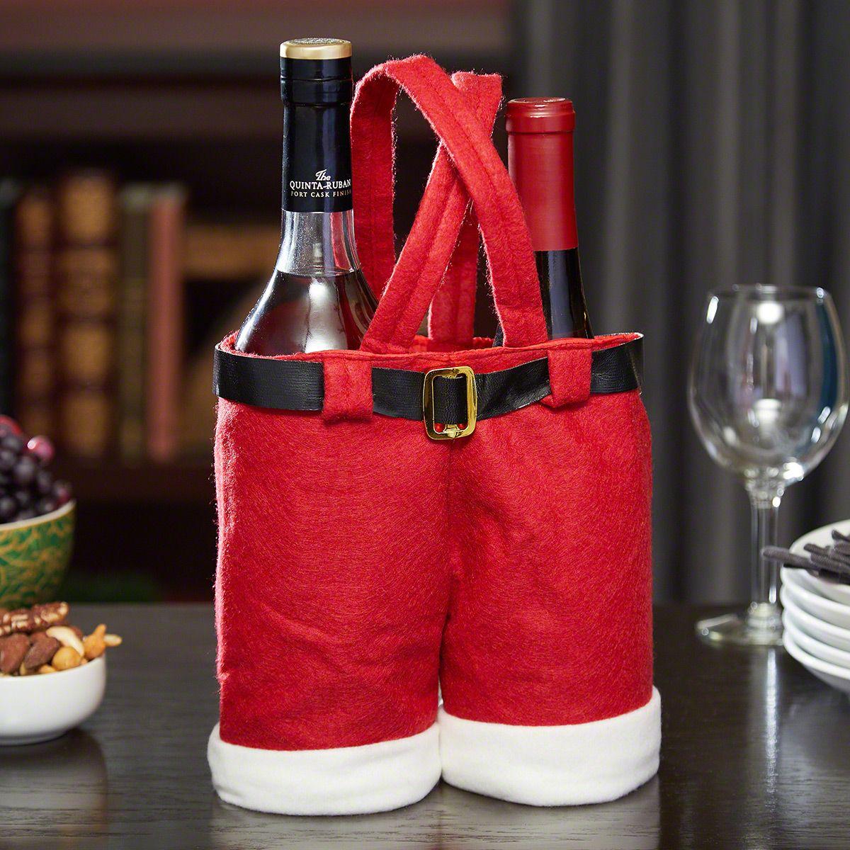 Santa Pants Wine Bottle Holders