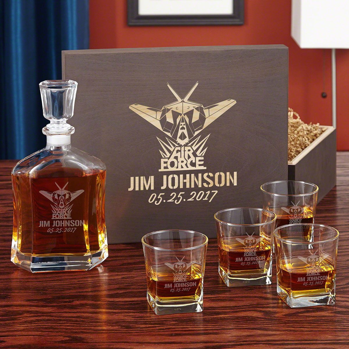 Air Force Glory Decanter Set, Personalized