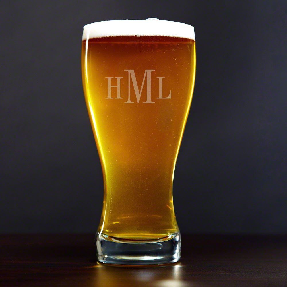Personalized Beer Pilsner Glass, 20oz