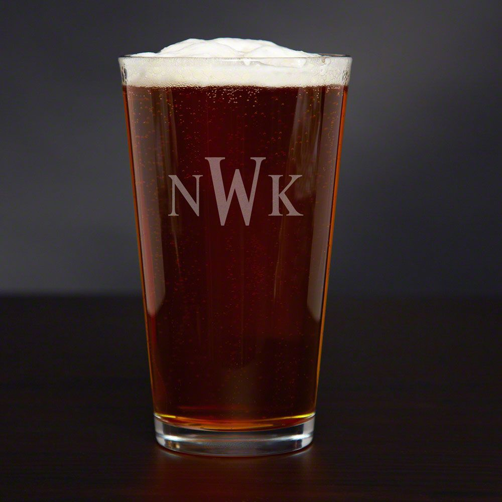 Personalized American Pint Glass, 16 oz