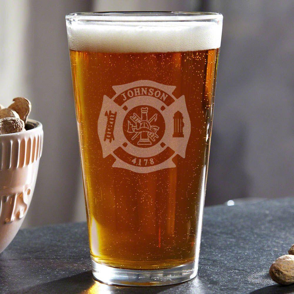Fire & Rescue Custom Pint Glass