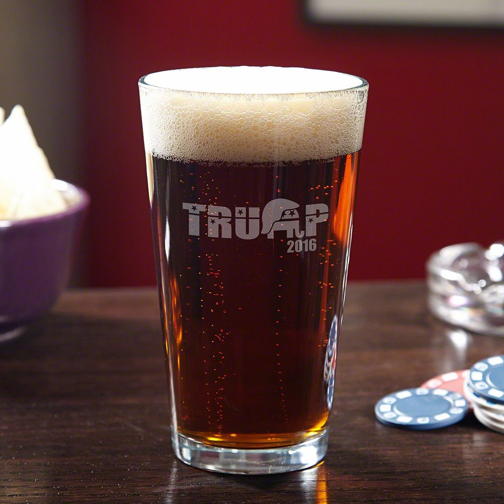 Support Trump Engraved Pint Glass