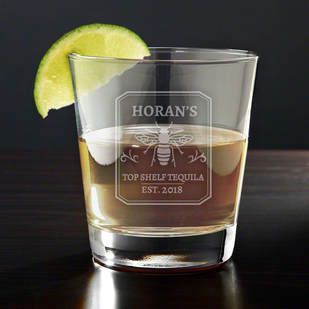 Top Shelf Personalized Tequila Glass