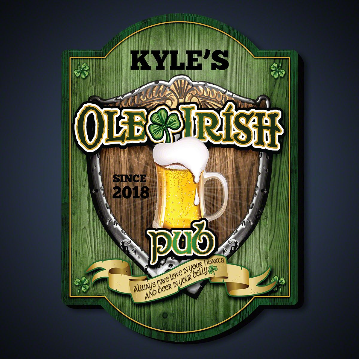 Ole Irish Personalized Pub Sign