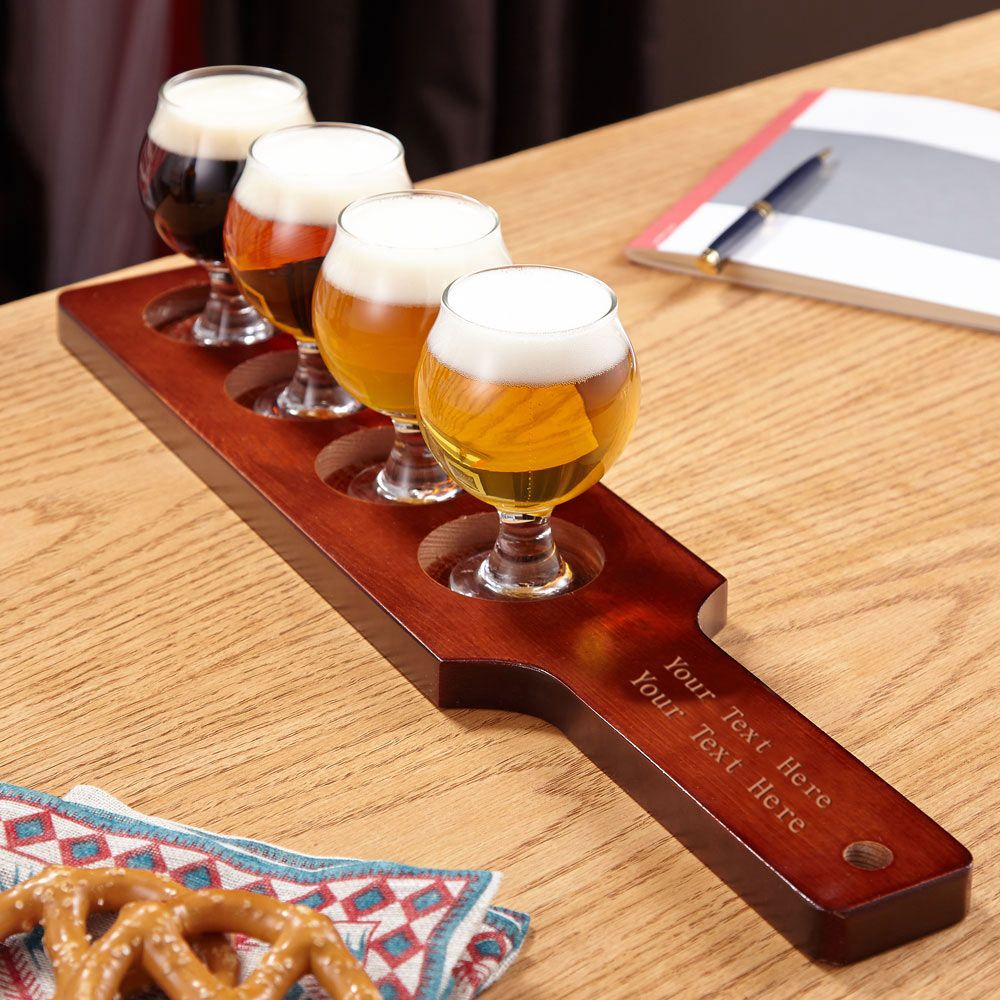 Carefully Crafted Personalized Beer Flight Set