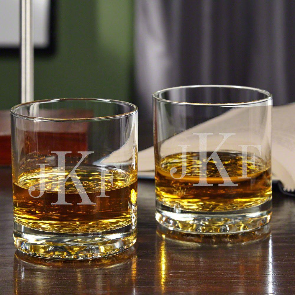 Classic Monogram Custom Buckman Whiskey Tumblers