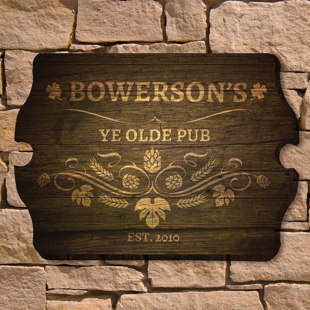 Ye Olde Pub Personalized Bar Sign