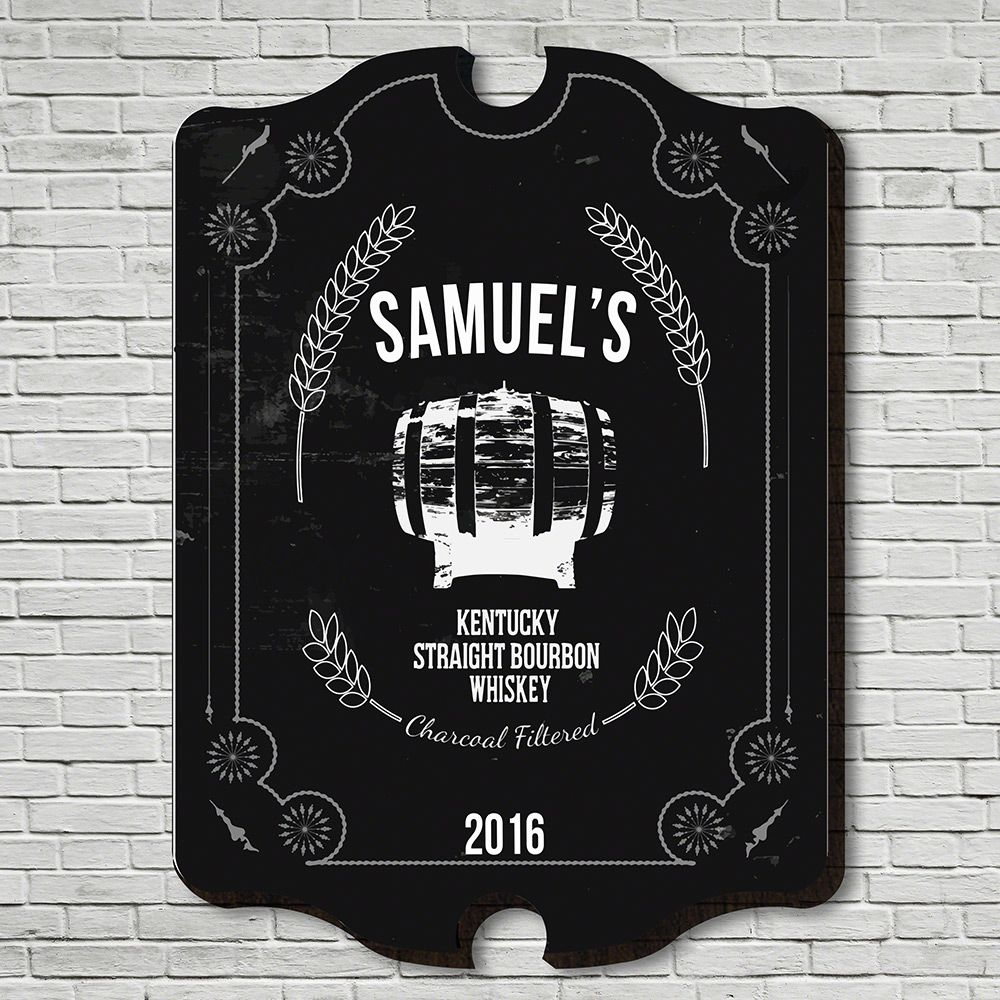 Straight Kentucky Whiskey Custom Bar Sign