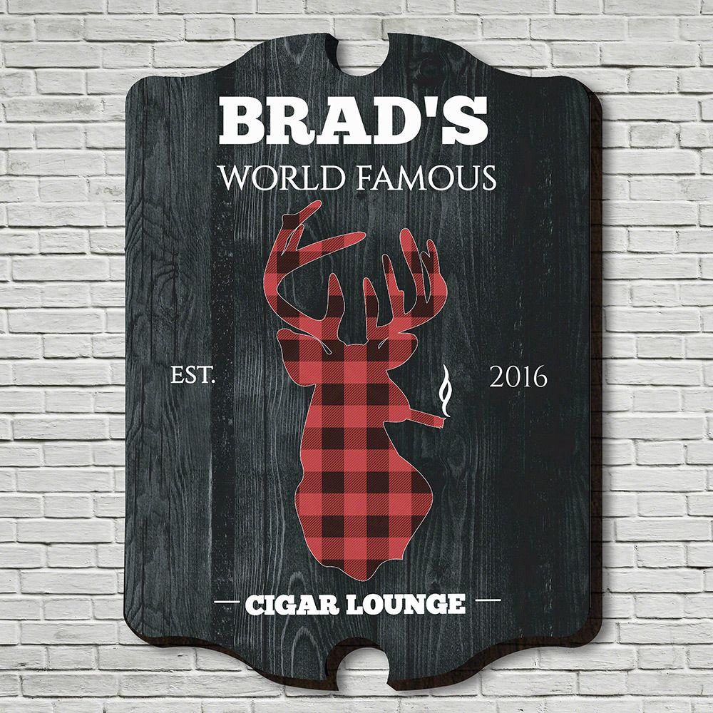 Smokin Stag Cigar Lounge Custom Sign