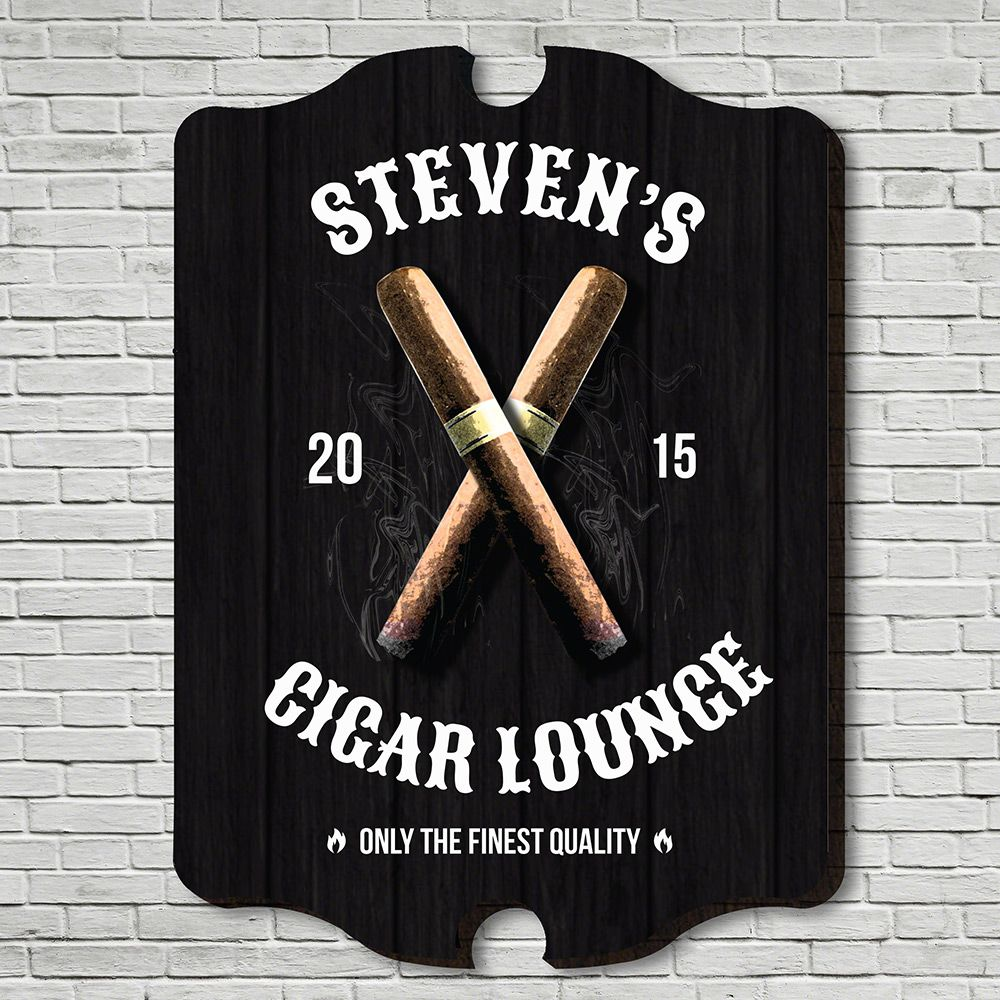 Finest Quality Cigar Personalized Wall Sign
