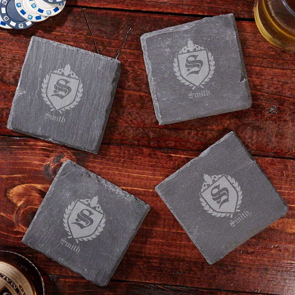 Oxford Personalized Slate Coasters, Set of 4