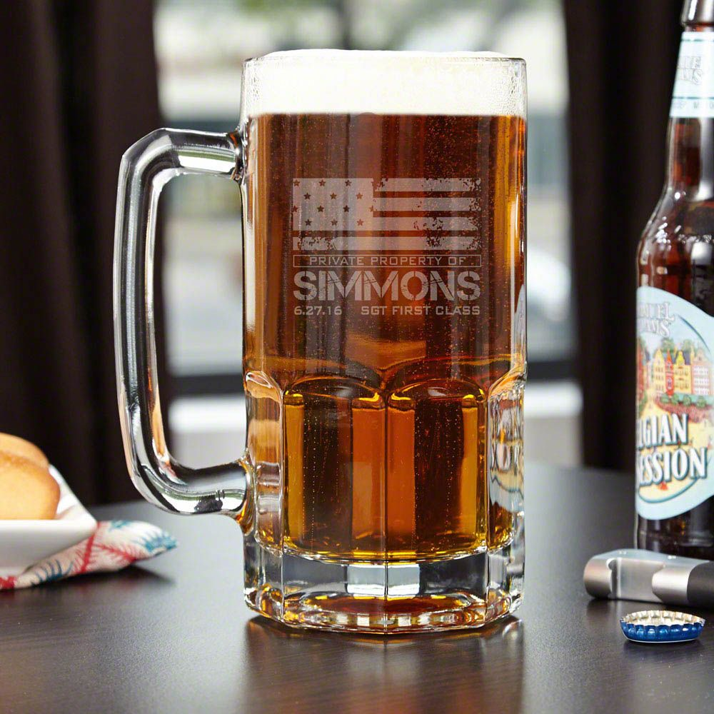 American Heroes Colossal Personalized Beer Mug