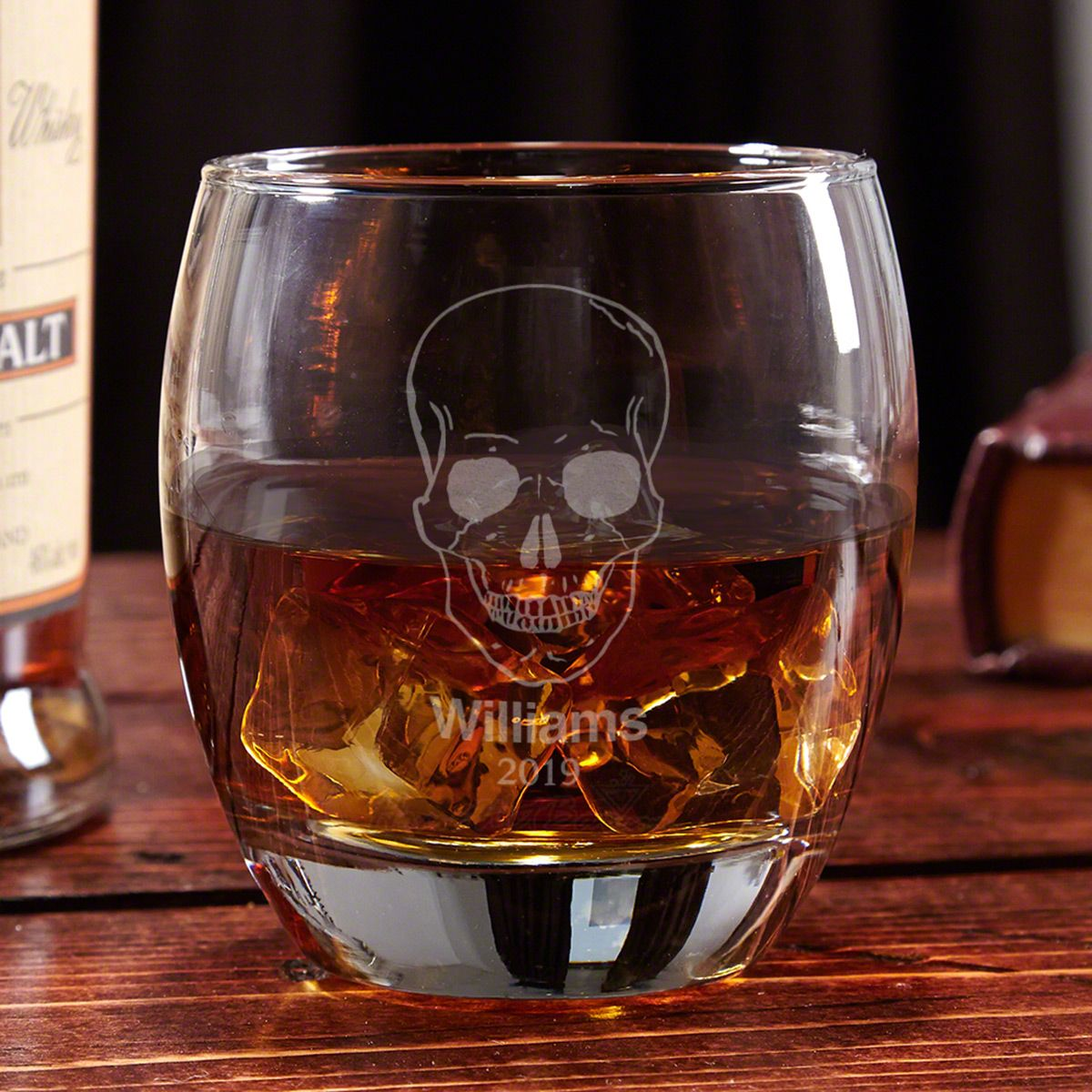 Phantom Skull Personalized Whiskey Glass
