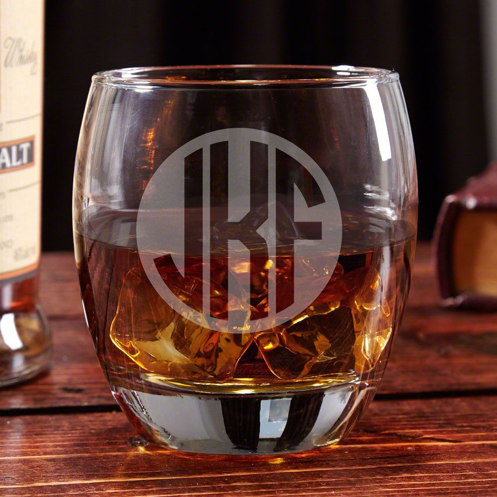 Midtown Classico Monogrammed Whiskey Glass