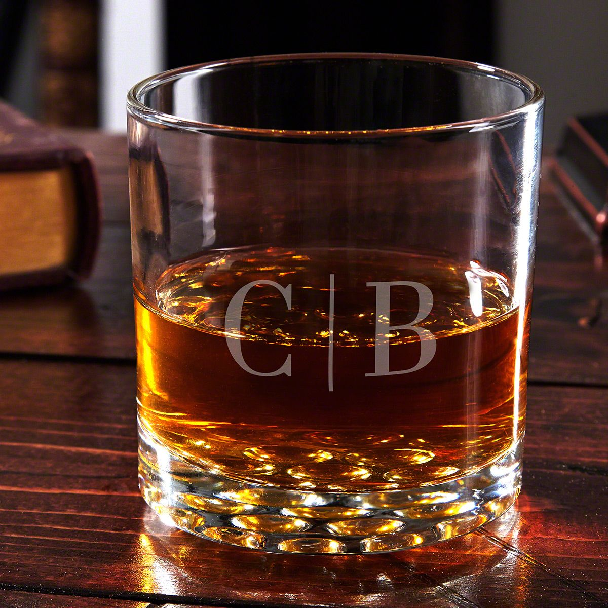 Quinton Monogram Engraved Whiskey Glass