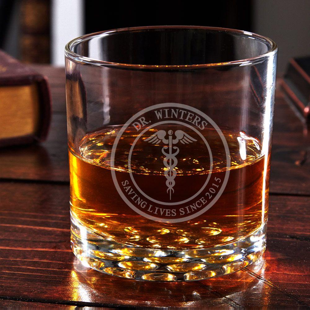 Medical Arts Engraved Buckman Whiskey Glass