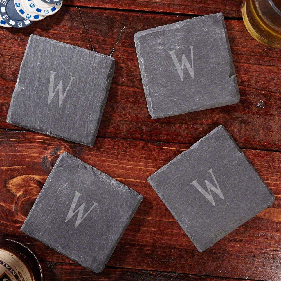 Set of Four Custom Slate Coasters