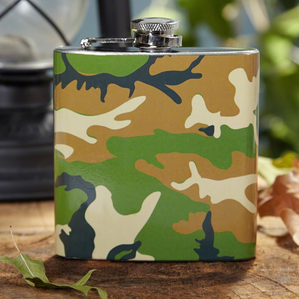 Hunters & Soldiers Camouflage Liquor Flask
