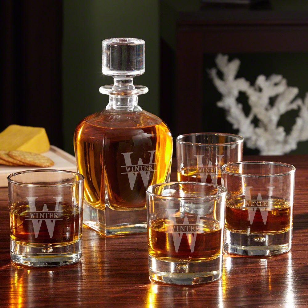 Oakmont Custom Whiskey Decanter Set
