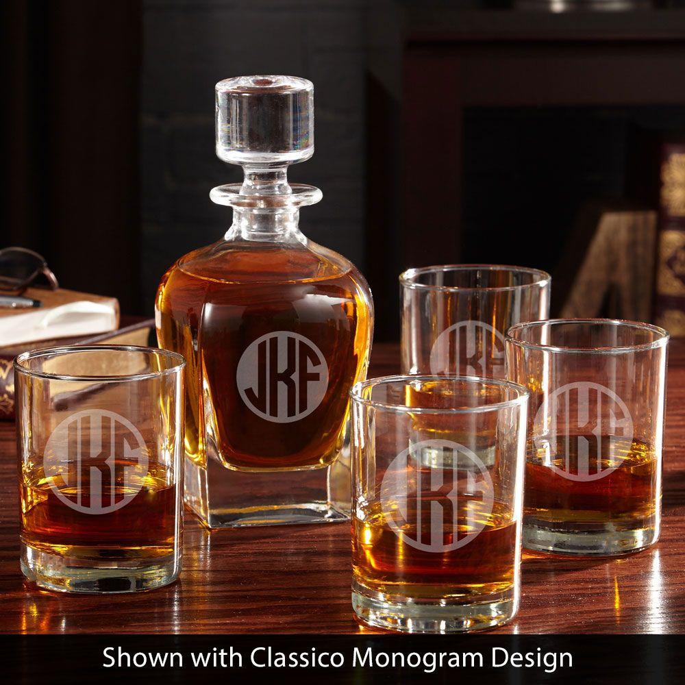Eastham Engraved Decanter Set (2 designs)