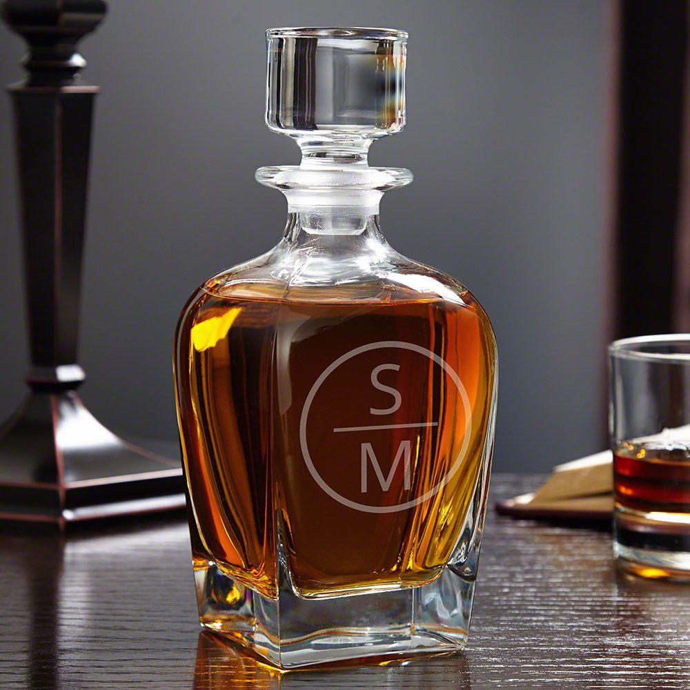 Emerson Personalized Draper Glass Decanter