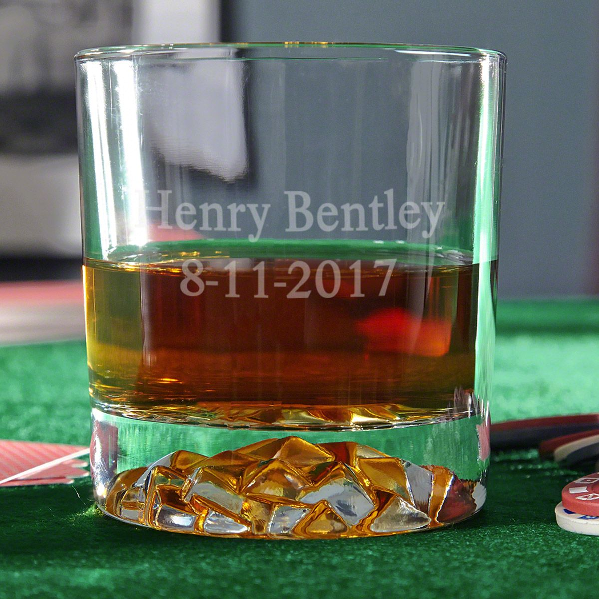 Fairbanks Custom Etched Whiskey Glass