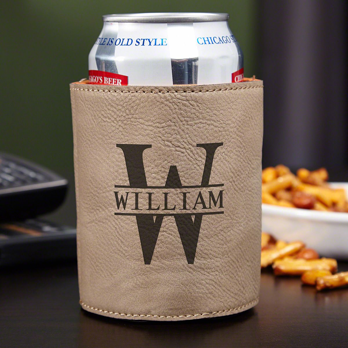Oakmont Personalized Can Cooler, Sand