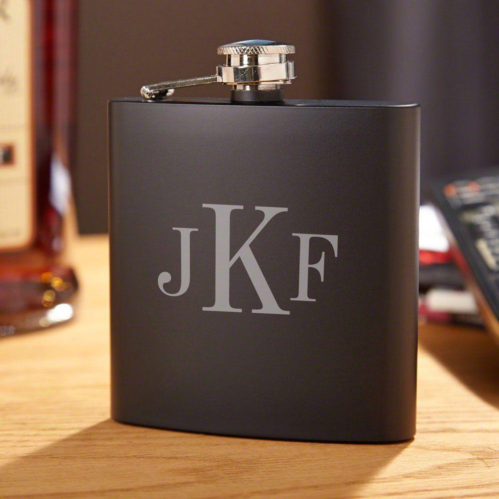 Classic Monogram Personalized Blackout Flask