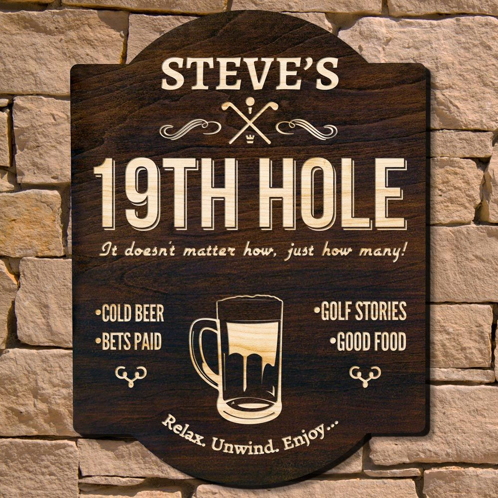 Nineteenth Hole Custom Wall Sign (Signature Series)