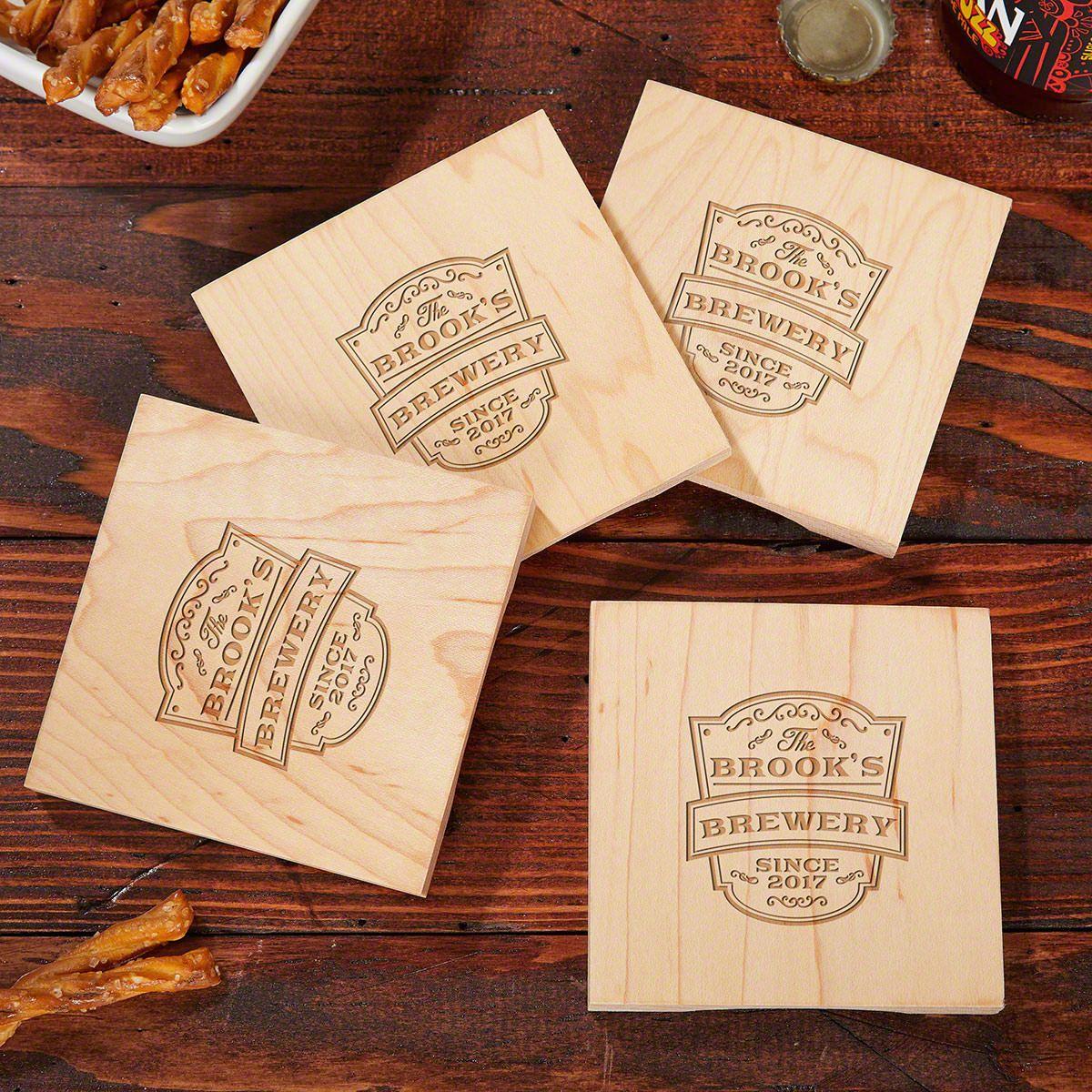 Beer Opener Wood Coasters