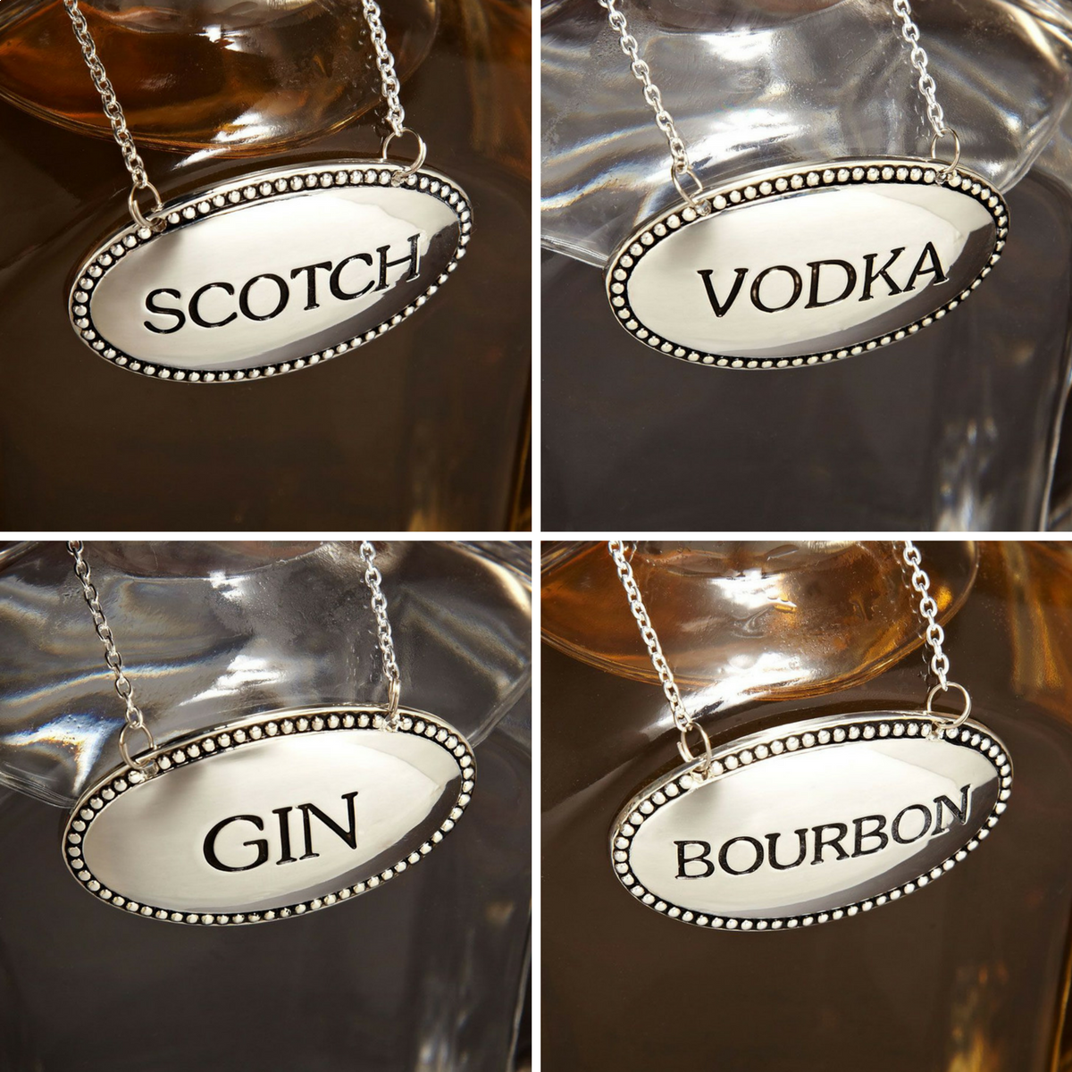 Decanter Tags Set of 4