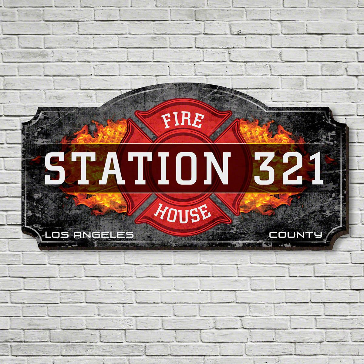 Firehouse Customized Wooden Sign For