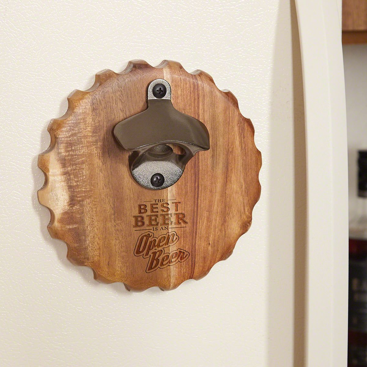 Best Beer is an Open Beer Funny Magnetic Bottle Opener