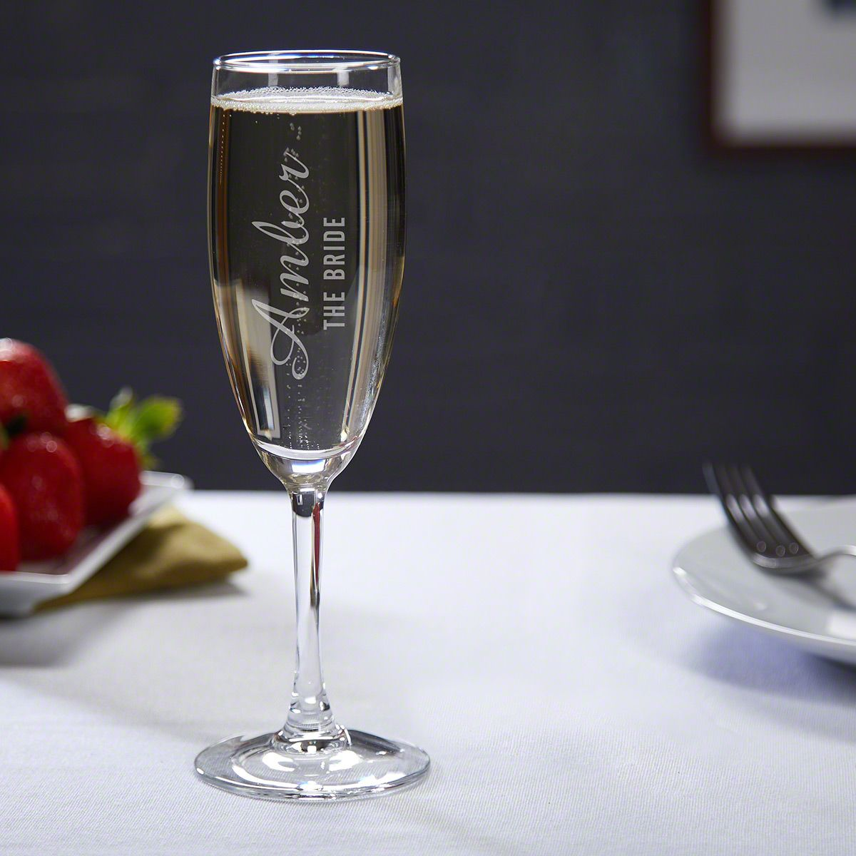 Wedding Party Engraved Champagne Flute for Weddings