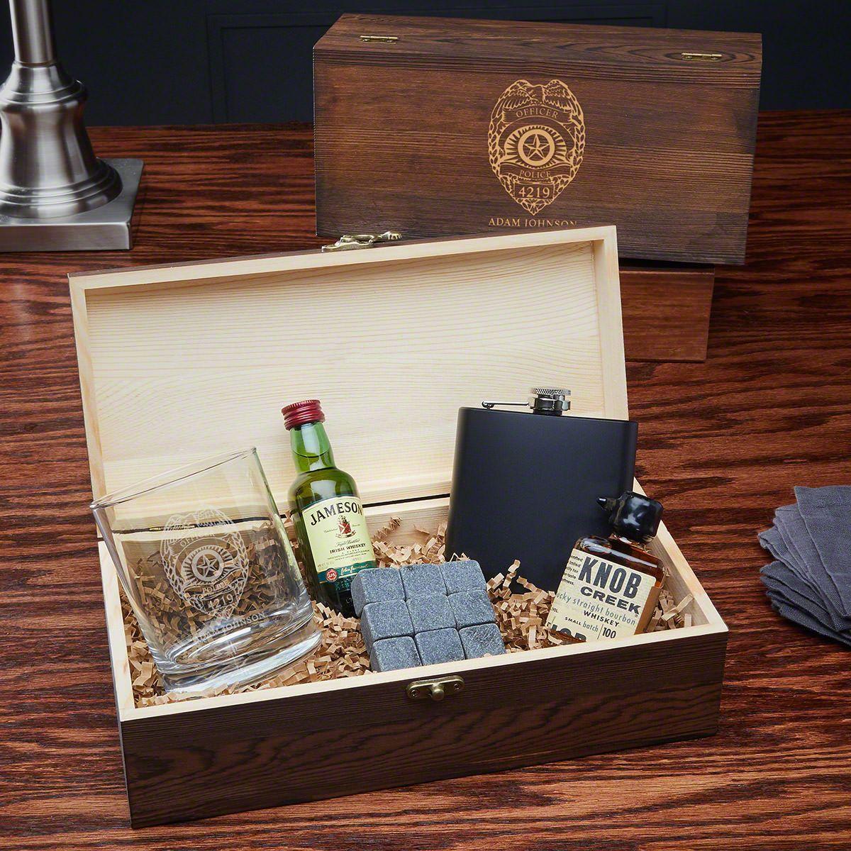 Police Badge Custom Whiskey Set – Police Officer Gift Ideas