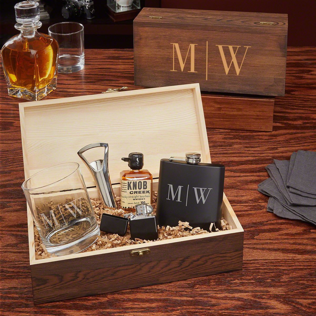 Quinton All The Vices Custom Whiskey Gift Set for Men
