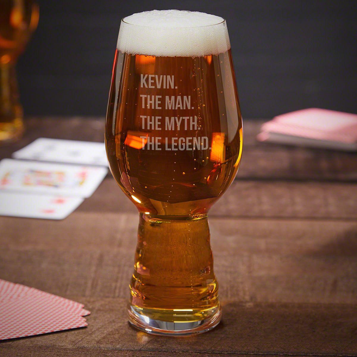 The Man The Myth The Legend Engraved Spiegelau IPA Glass
