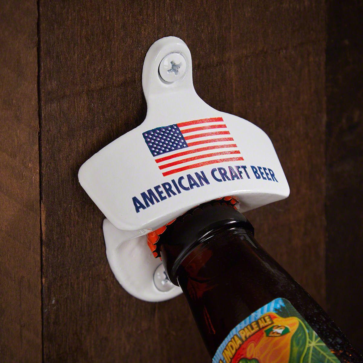 American Craft Beer Wall Mounted Beer Bottle Opener