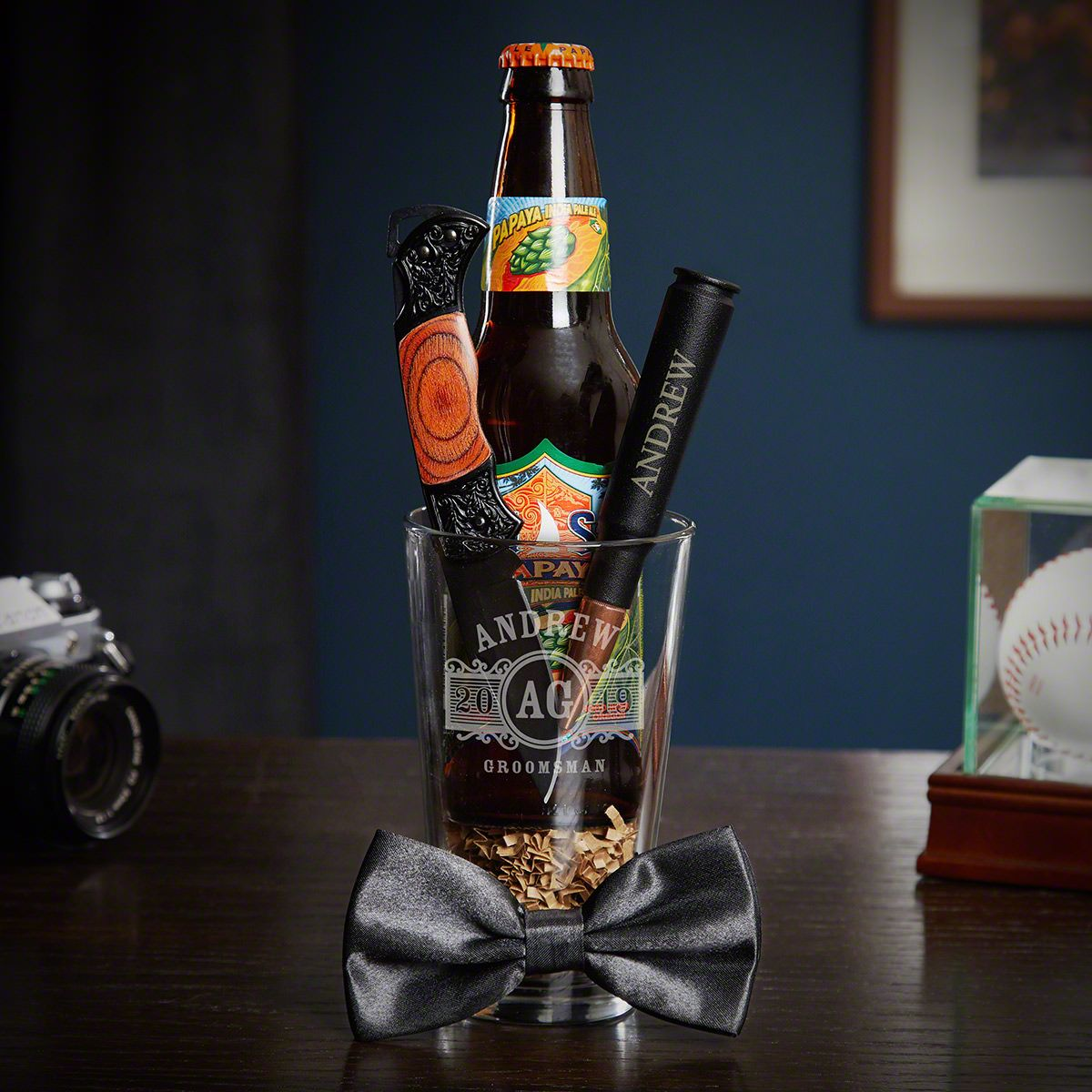 Marquee Pint Night Personalized Best Man Gift Set