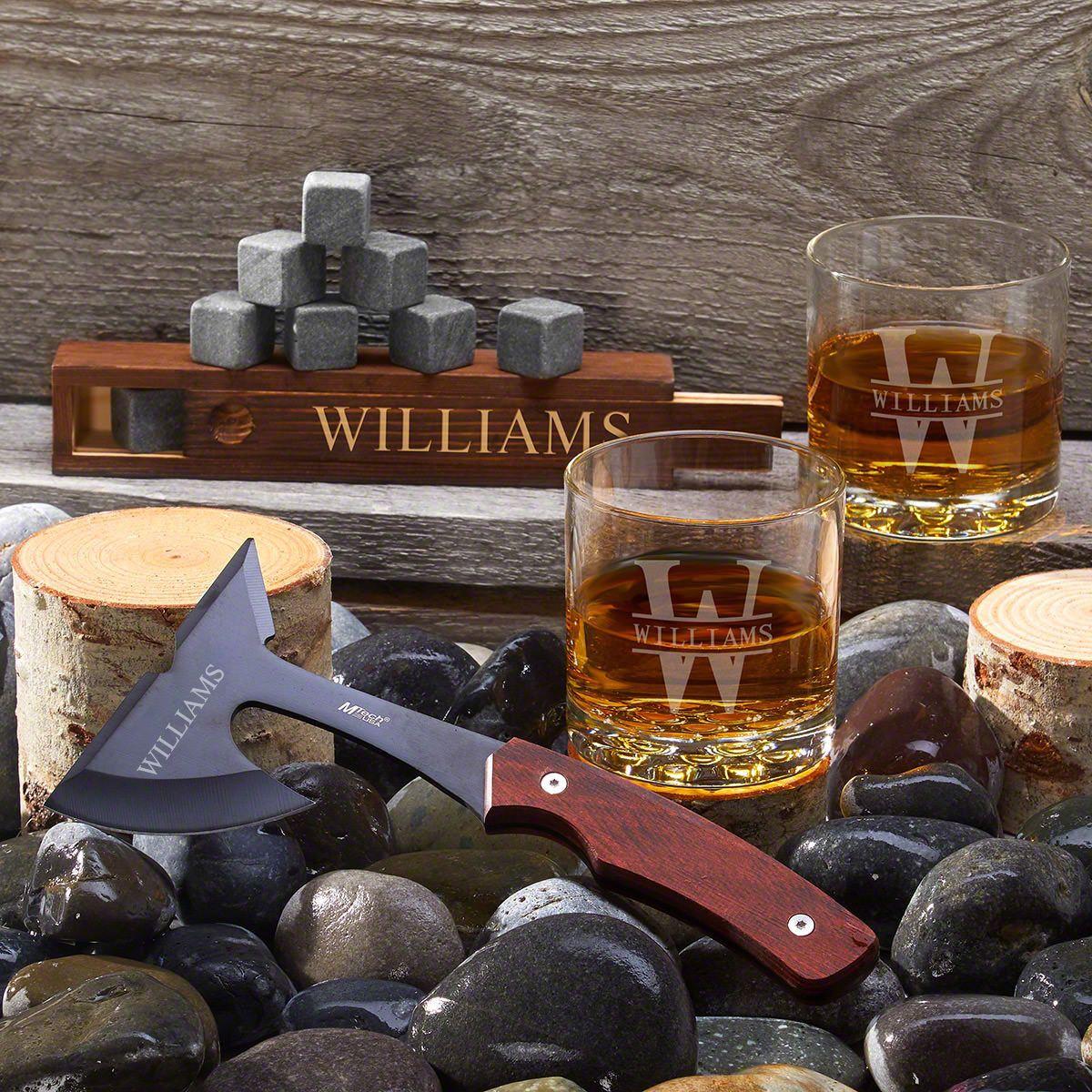 Custom Axe & Whiskey Set
