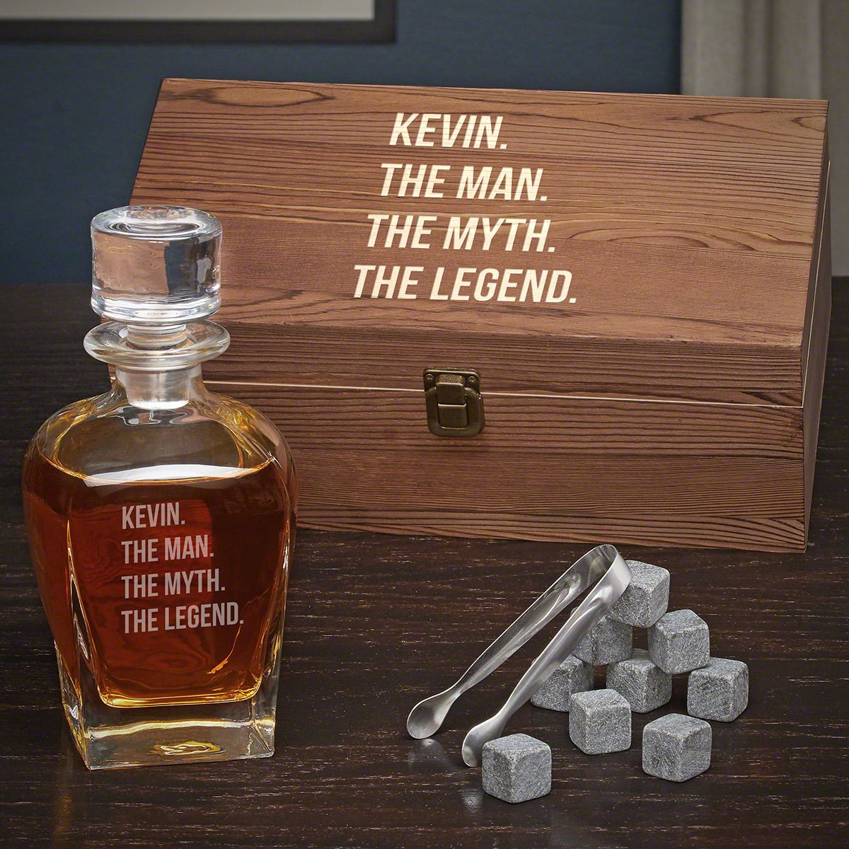 Man Myth Legend Personalized Whiskey Draper Decanter With Box