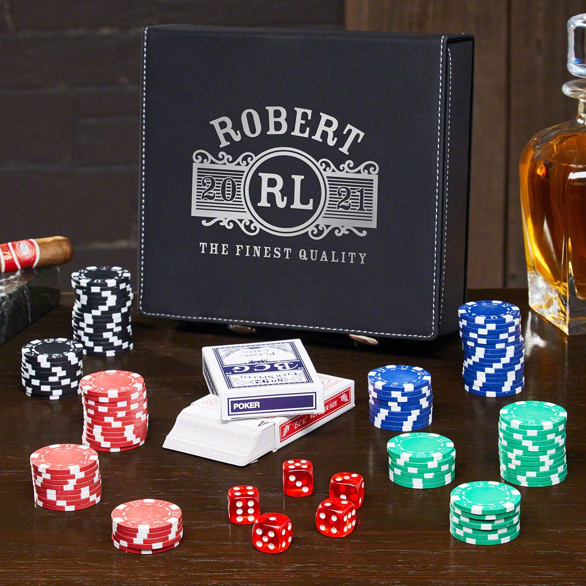 Marquee Personalized Poker Set
